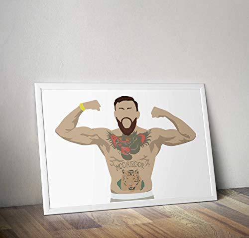 Conor McGregor inspirierte Poster - Zitat - Alternative Sport/Boxen/MMA Prints in verschiedenen Größen (Rahmen nicht im Lieferumfang enthalten)
