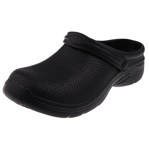 Baoblaze paio scarpe da lavoro sandali pattini da infermiera professionali per chef cuoco - nero, ue 41