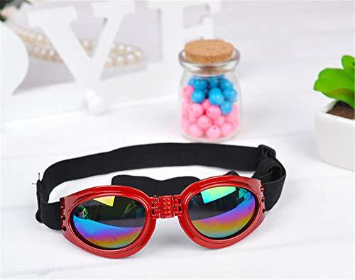 KOMNY Im Freiensportschwarzer Kleiner Hundkatzenaugen-Sonnenbrilleschutzbrillengläserdekor-Haustierprodukt für Hundekatzenzusätze Sonne Glassess, D