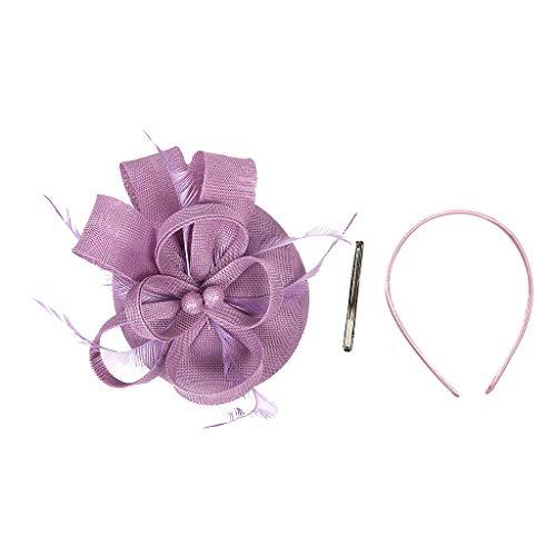 Beonzale Faszinator Kopfschmuck Elegant Flapper Stirnband Handgemachte Frauen Haarspange Feder Hochzeit Casual Fascinator Kopfschmuck Hut für Mädchen -
