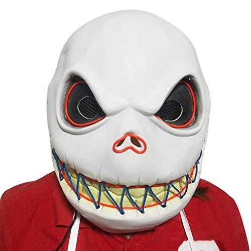 Halloween Beängstigend Kostüm Eine - Hffan Hai Stil Maske Lächeln Gesicht Erwachsenen Latex Kostüm Halloween Beängstigend Geführte Maske Party Maske Cosplay Kostüm Latex Maske Led Maske Leuchtende Maske Kostüm Kopfmask