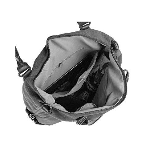 OBC DESIGN ITALIANO borsa borsa di cuoio borsa donna TELA COTONE Crossover Borsa a Tracolla Sportivo BORSA TRACOLLA BORSA CON MANICI SHOPPER DIN-A4 - Grigio (strass-stern), ca 44x42x15 cm ( BxHxT ) Nero