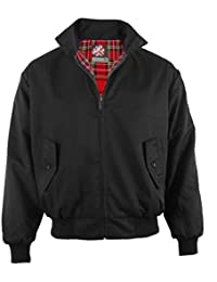 Warrior - Veste Harrington Prestige - style Elvis et McQueen - noir