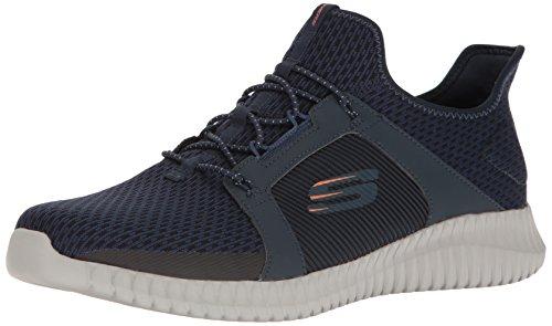 Skechers Herren Elite Flex Slip On Sneaker, Blau (Navy/orange), 41 EU Orange Slip On