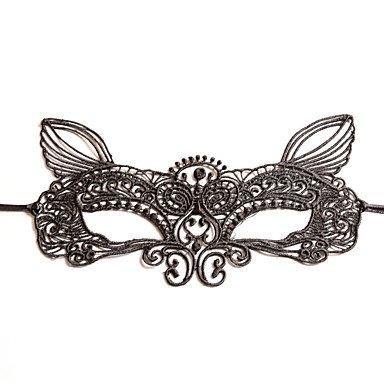 zheENfu Schwarz Sexy Lady Spitze Maske Ausschnitt Auge Fox für Masquerade Party Kostüm, Schwarz Kopfschmuck