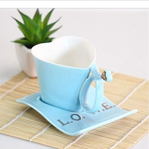 Leyoyo tazza in ceramica in stile europeo tazza in ceramica love tazze e piattini coppia tazze compleanno san valentino nozze c