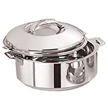 Kuber Industries Casserole/HotPot,chapati Box/chapati Container/hot case in Stainless Steel 2500 ML -CTKTC6037