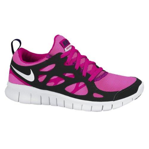 Nike Laufschuhe Free Run 2 LE (GS) Damen vivid pink-white-pink glow-black, 37,5, pink