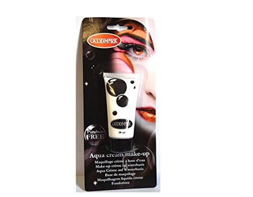 Tube crème maquillage à l'eau Aqua BLANC déguisement - 38 ml