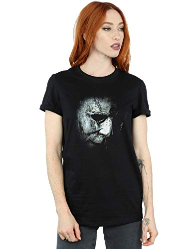 Drewbacca Damen Halloween Mask Boyfriend Fit T-Shirt Schwarz -