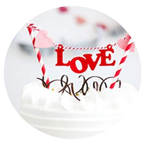 Happy Birthday Cake Topper Cupcake Flagge Baby Shower Geburtstag Party Dekoration Kuchen Backen Party Hochzeit Dekoration Supplies ()