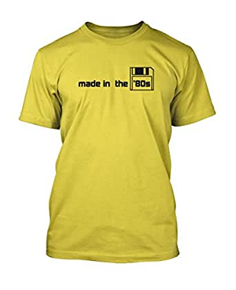 Made in the 80s Retro Flo TEE Yellow XX-Large