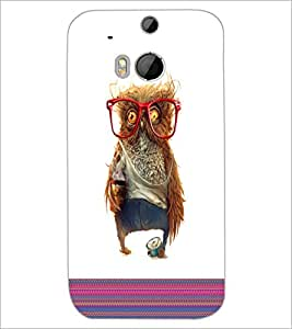 HTC ONE M8 S OWL Designer Back Cover Case By PRINTSWAG