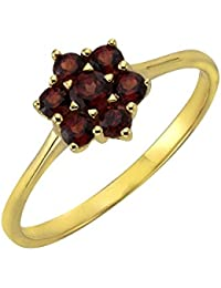 Ellen K. - Bague - Or jaune 333/1000 (8 cts) - Grenat - 170370168-052
