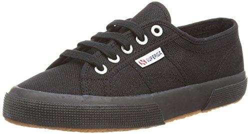 Superga 2750-jcot Classique, Baskets Unisexes - Enfants, Blanc 18 Noir (noir)