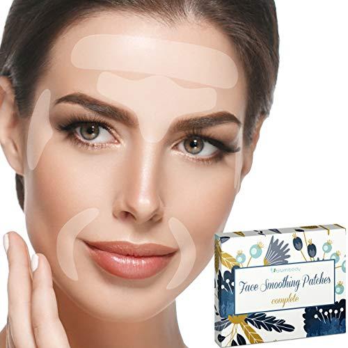 Facial Patches Anti Aging - 240 Gesichts Antifaltenpflaster: Stirn Falten Pads, Augenfältchen Streifen, Falten um Mund & Oberlippenfaltenbehandlung - Wiederverwendbare Falten Entferner Pflaster