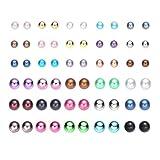 Onnea 30 Paare Ohrstecker Ohrringe Set Kugel Bunt für Mädchen Damen Kinder