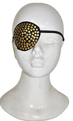 lappe Piraten Kostüm mit Nieten Gummizug Augenklappe, Mehrfarbig (Teufels Königin Kostüme)