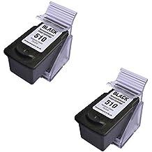 Prestige Cartridge PG-510 Lot de 2 Cartouches d'encre compatible avec Imprimante Canon Pixma iP2700, iP2702, MP230, MP235, MP240, MP250, MP252, MP260, MP270, MP272, MP280, MP282, MP480, MP490, MP492, MP495, MP499, MX320, MX330, MX340, MX350, MX360, MX410, MX420, Noir