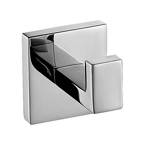 Homovater 304 Edelstahl verchromt Handtuchhaken, Modern Chrom Handtuch Robe Luxus Quadrat Badezimmer Zubehör …