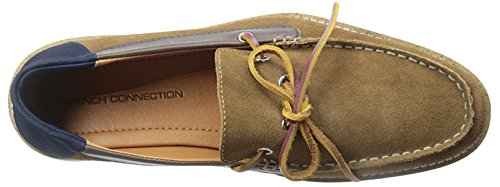 French Connection Calsin Synthétique Mocassin Cognac