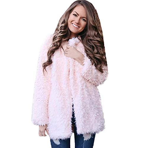 TWBB Damen Bekleidung Mantel Winter Warm Outwear Elegant Warm Faux Fur Kunstfell Jacke Strickjacke Coat
