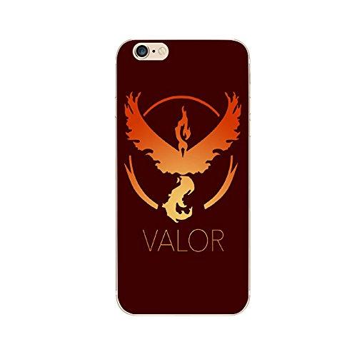 Preisvergleich Produktbild iPhone 6 Plus/6s Plus Pokemon Go Silikonhülle / Team Valor Gel Telefonabdeckung für Apple iPhone 6S Plus 6 Plus / Displayschutzfolie und Tuch / iCHOOSE