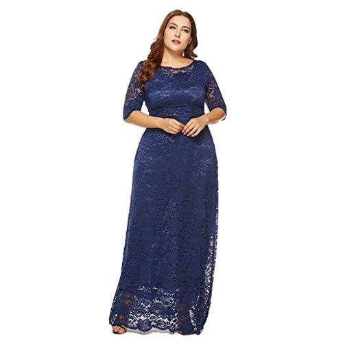 Damen Kleider in Übergrößen Vintage Blumen Spitzen Swing-Kleid Oversize Formal Abendkleider Rundhals Partykleid Swing-Kleid Cocktailkleid Elegant Kleider Langes Kleider(XL-6XL)