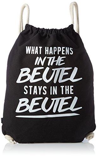 (VISUAL STATEMENTS Sportbeutel – bedruckter Beutel mit Spruch – eine schöne Sport-Tasche; aus hochwertigen Materialien – Beutel mit Kordeln – ein schöner Rucksack aus Baumwolle - Tasche in schwarz)