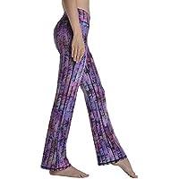 DECJ Mujeres Yoga Leggings Pantalones de Cintura Alta Running Mallas de Entrenamiento,B,M