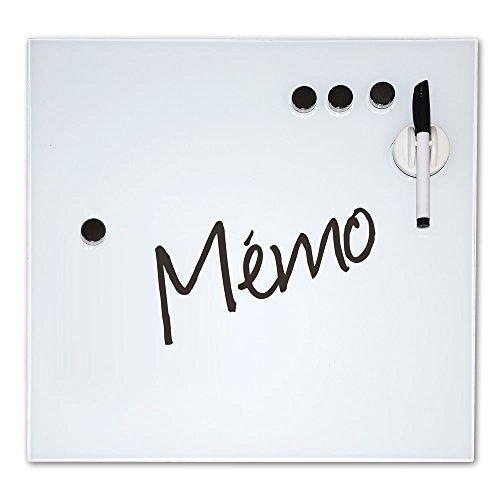 TREND'UP - MEMO MURAL MAGNETIQUE VERRE + ACCESSOIRES