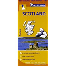 Scotland Map (Michelin National Map)