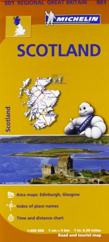 Scotland Regional Map 501 (Michelin Regional Maps) (Michelin National Map) por Michelin