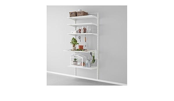 Ikea algot wandschiene boden haken aufbewahrungssystem in weiß