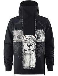 Amazon.es  leon 3d - Xu Li s lucky shop   Sudaderas sin capucha ... adefe29e28a