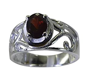 Riyo rouge 925 bague en argent grenat excellente main contemporaine bijoux srgar80-26270