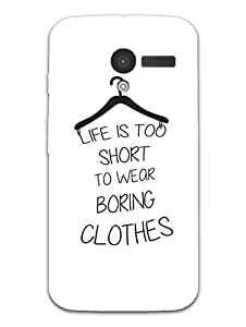 Moto X Back Cover - Life Is Too Short - Typography - Designer Printed Hard Shell Case