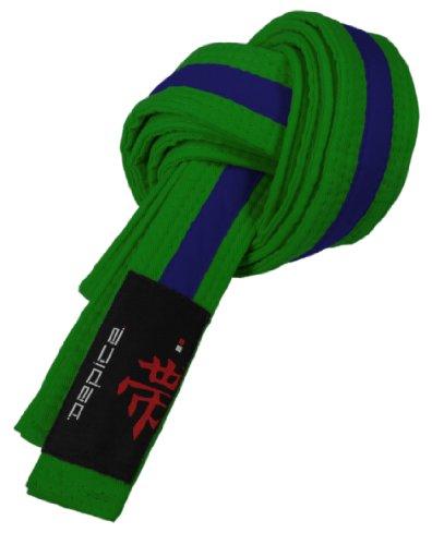 DEPICE Budogürtel grün/blau zweifarbig – Zwischengürtel Kampfsportgürtel Karategürtel Judogürtel