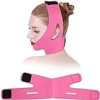 Axjzh Face Slimmer Belt, Bandage Belt Mask Face-Lift Double Chin Skin Strap,V Face Line Belt Breathable Chin Lift Anti Wrinkle Sleep Mask Strap,Rose
