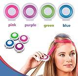 Haarkreide Kamm, Blau, für 1 Tages Anwendung, schöner Color Effekt, leicht auswaschbar,...