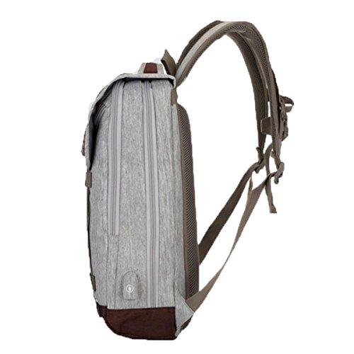 USB Aufladbare Rucksack Große Kapazität Student Tasche Freizeit Business Computer Tasche Black
