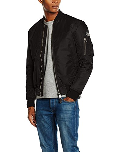 Schott NYC Airforce1 Chaqueta, Negro (Black), Small para Hombre