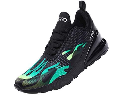 SINOES Laufschuhe Weben Hohe Hilfe Socken Schuhe Trend Luftkissenschuhe Alte Turnschuhe - Unisex Erwachsene Slimmer High-Top,Turnschuhe Freizeit Schnürer Sportschuhe Sneaker -