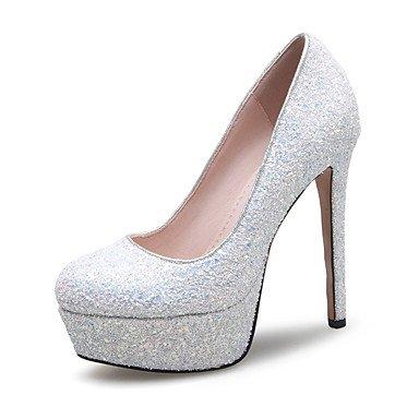 Talons pour femmes Printemps Été Automne Hiver Club Chaussures Glitter Matériaux sur mesure Fête de mariage et robe de soirée Sable de talon Red