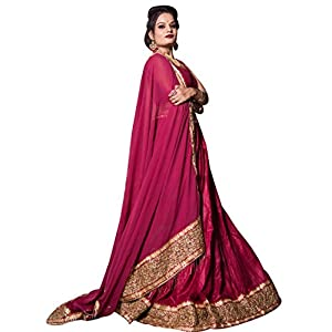 Bridaal Royal Women's Rayon Silk Dress Material(LGHN123_Pink_Medium)