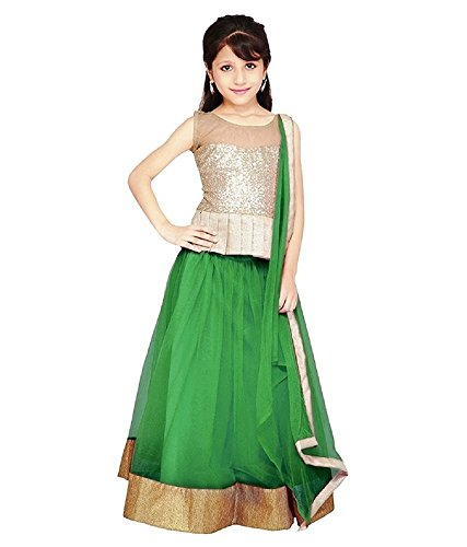 Sky Global Girls Net Traditional Party Wear Lehenga Choli (Sky_Kids_8074)  available at amazon for Rs.199