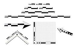 P Fotomaßstab Professional Kit 12-teilig 10, 20, 50/100 cm Nordpfeil Fototableau Lineal Maßstab
