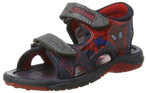 Spiderman Sp003400, Sandales  Bout ouvert garçon Blau (L.NAVY/Pewter 649)