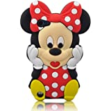 JBG 3d Cartoon Mouse Soft Silicone Case Cover with 3d Anti-plus Minnie Pen for Ipod Touch 5/5g/5th Generation - RED