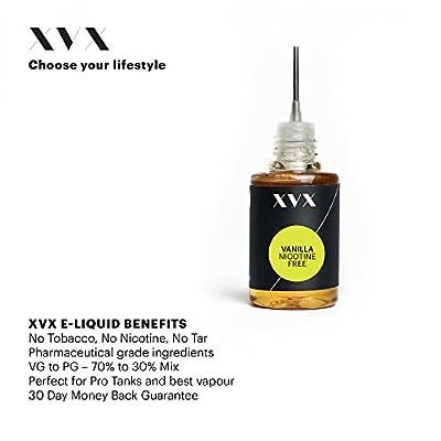 XVX E-Liquid \ Vanille Geschmack \ Elektronisches Liquid Für E-Zigarette \ Elektronische Shisha Liquid \ 10ml Flasche \ Nadelspitze \ Präzise Befüllung \ Wähle Deinen Lifestyle \ Neu Für 2016 \ Digitaler Rauch \ Nikotinfrei \ Tabakfrei von XVX